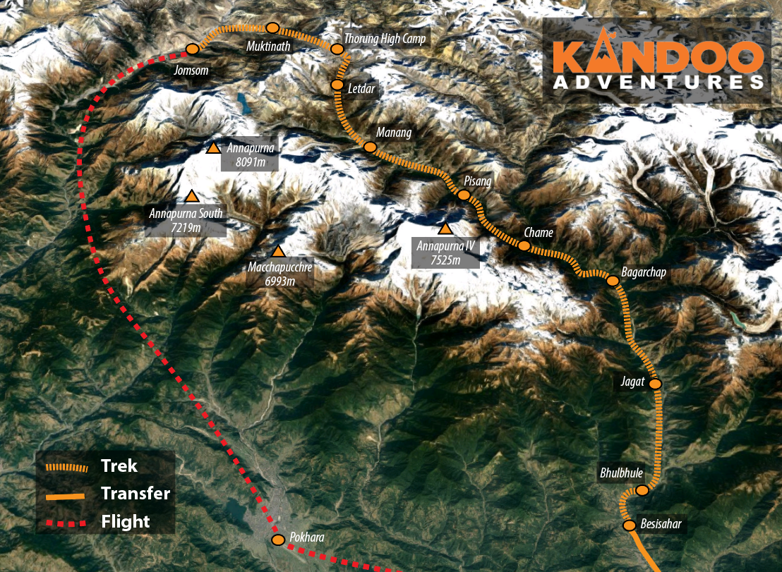 Annapurna Circuit Route Map