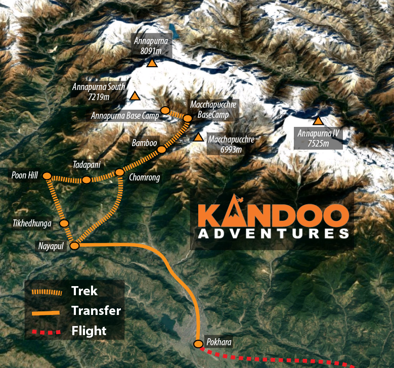 Annapurna Sanctuary Route Map