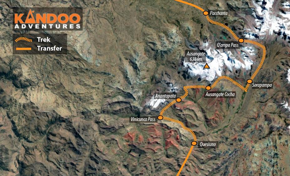 Ausangate Route Map