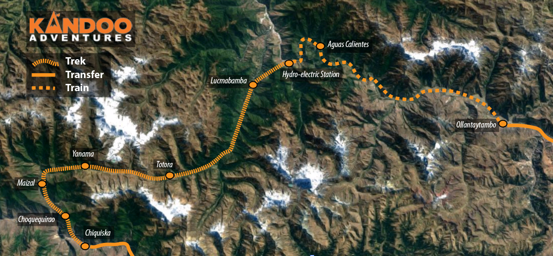 Choquequirao Trek Route Map