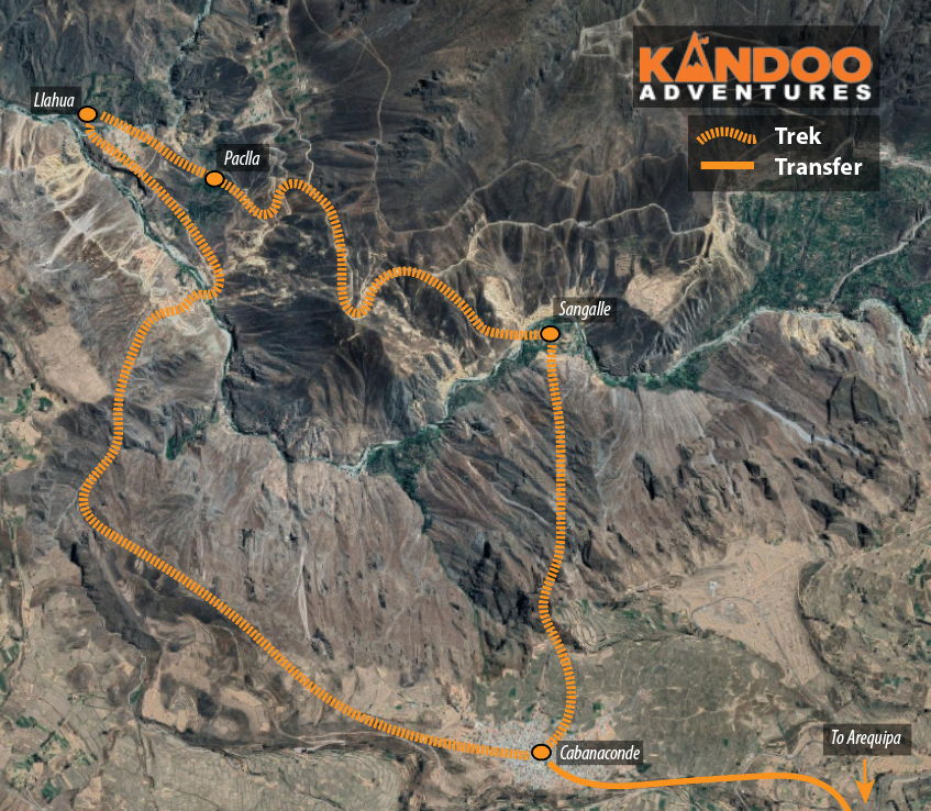 Colca Canyon Route Map