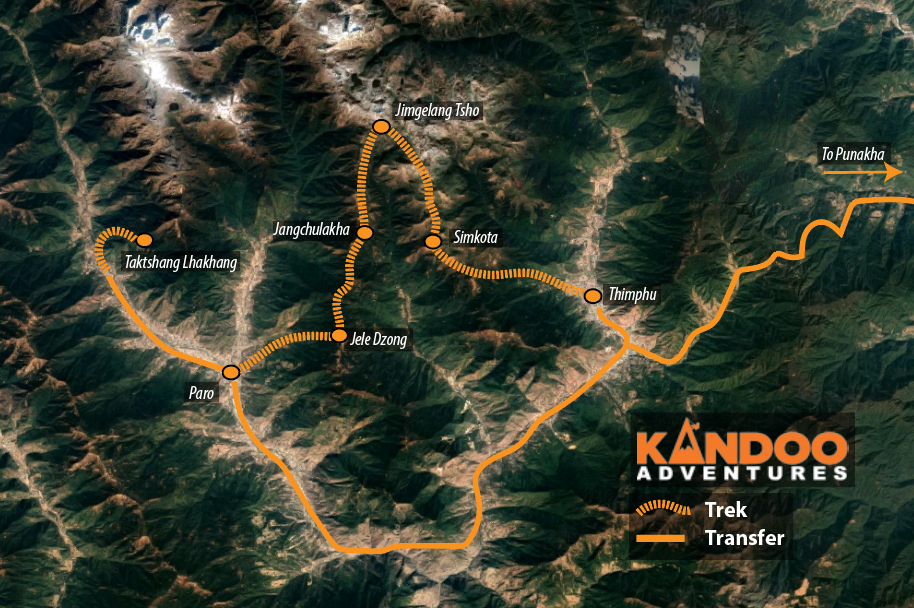 Druk Path Route Map