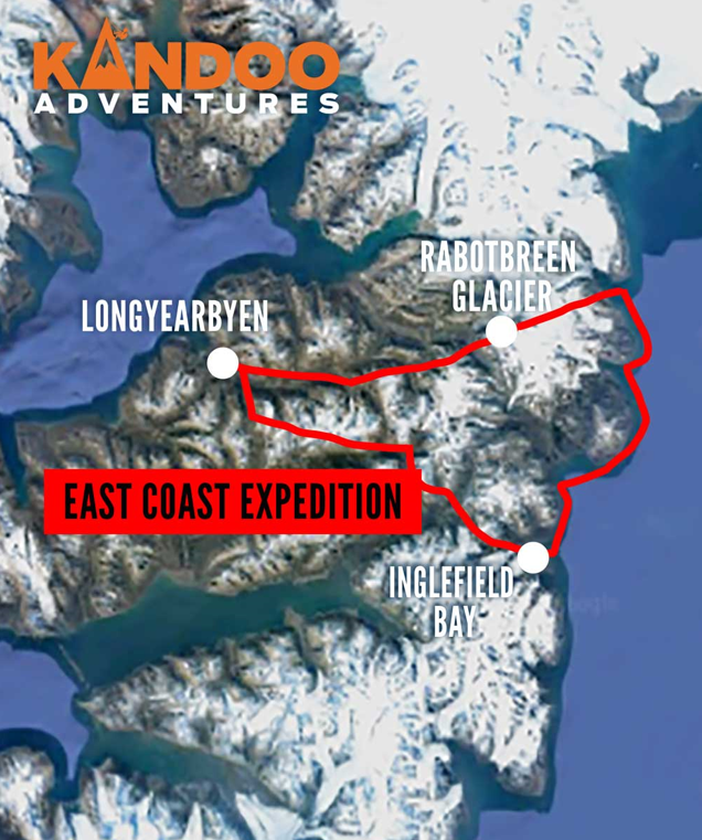 East Coast Expedition Route Map