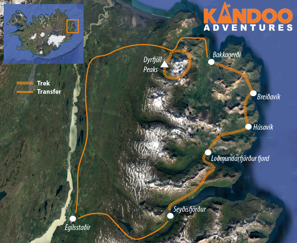 Fire and Fjords Rout Map