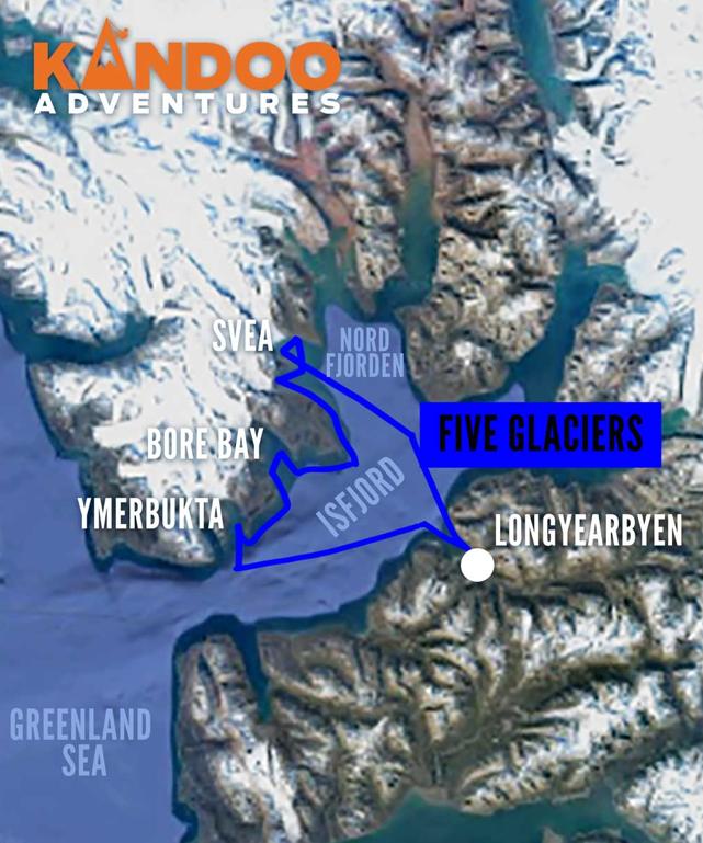 Five Glaciers Route Map