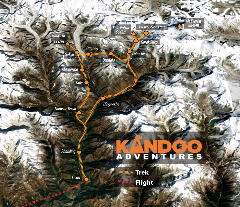 Gokyo Lakes Route Map