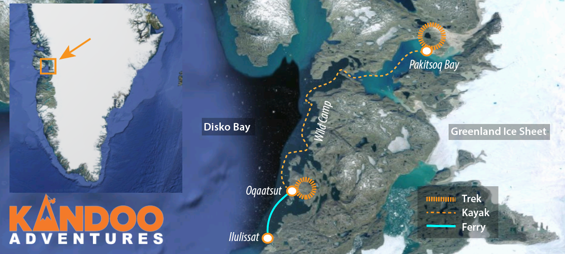 Kayak to the Ice Sheet Route Map