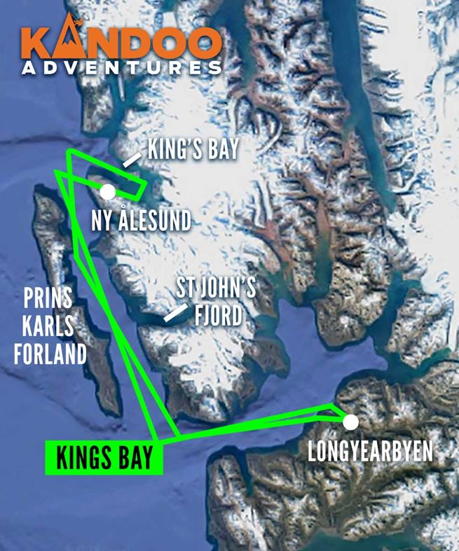 Kings Bay Route Map