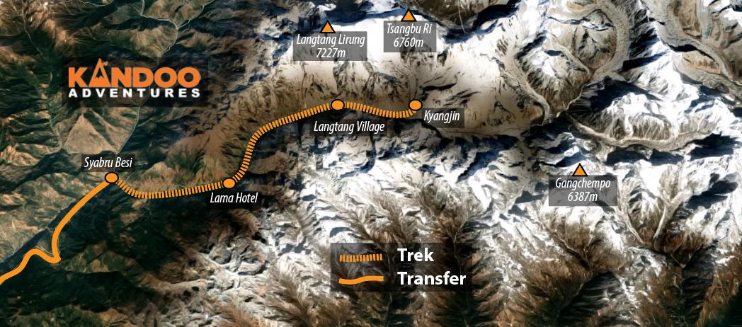 Langtang Trek Route Map
