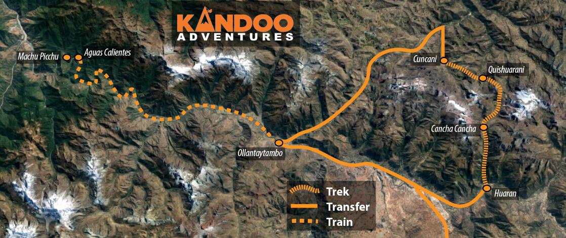 Lares Trek Route Map