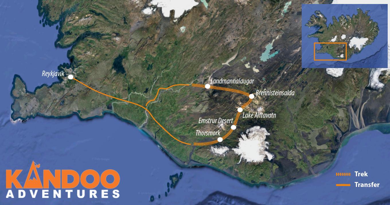 Laugavegur Trek Route Map