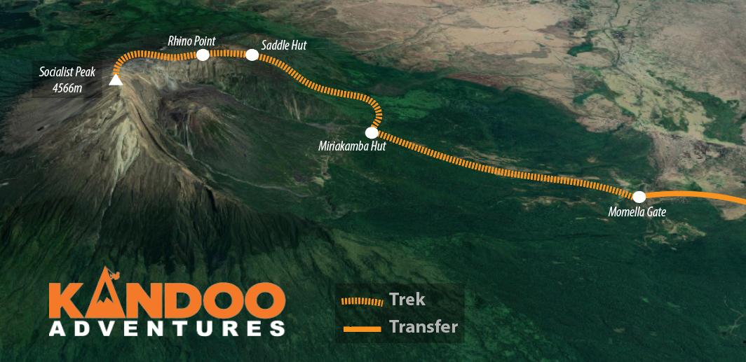 Mt Meru Route Map