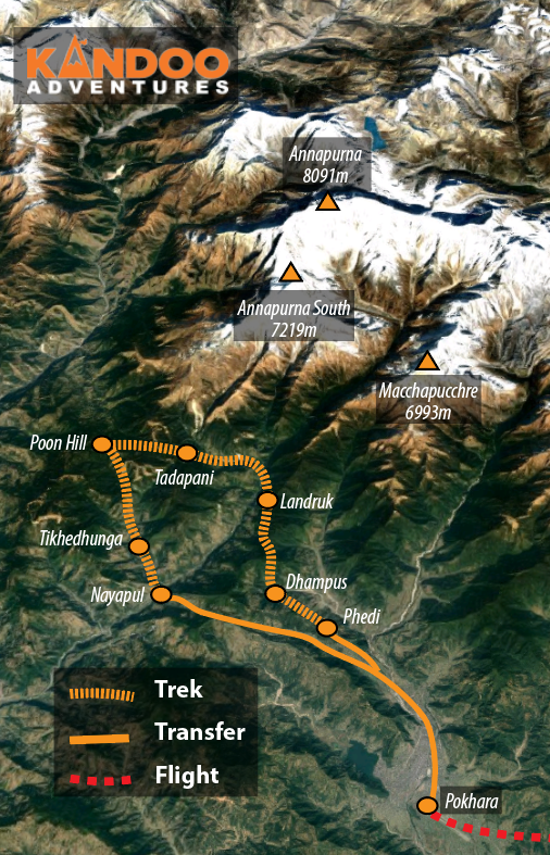 Poon Hill Route Map