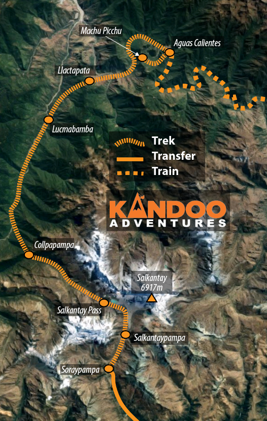 Salkantay Route Map