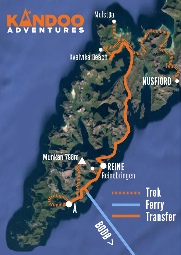 Summits of Lofoten Route Map