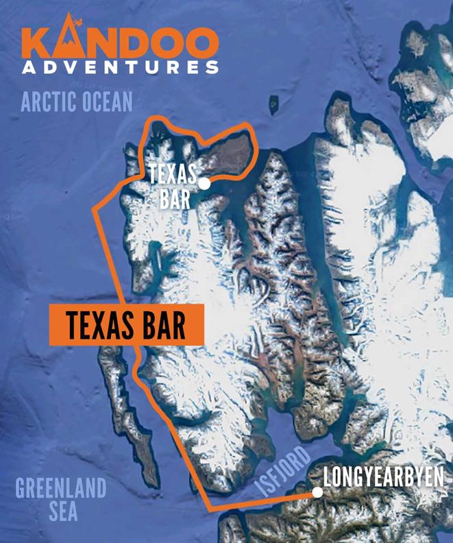 Texas Bar Route Map