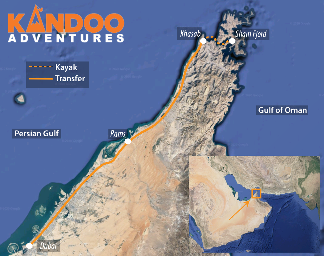 The Fjords of Arabia Route Map