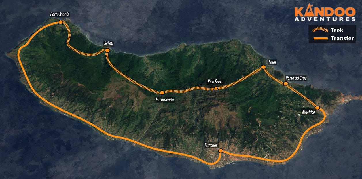 The Great Crossing of Madeira Route Map