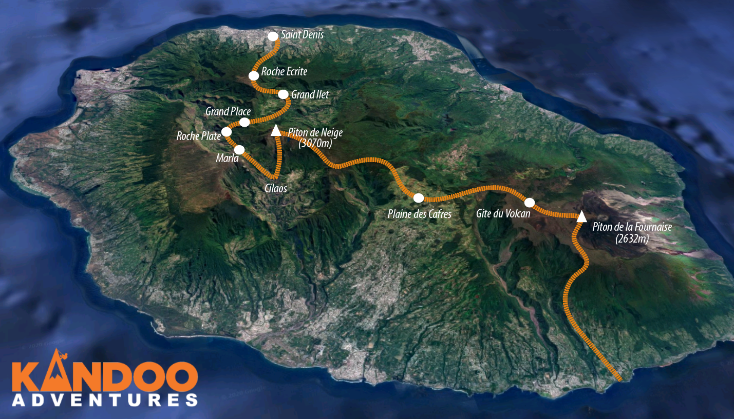The Great Traverse Route Map