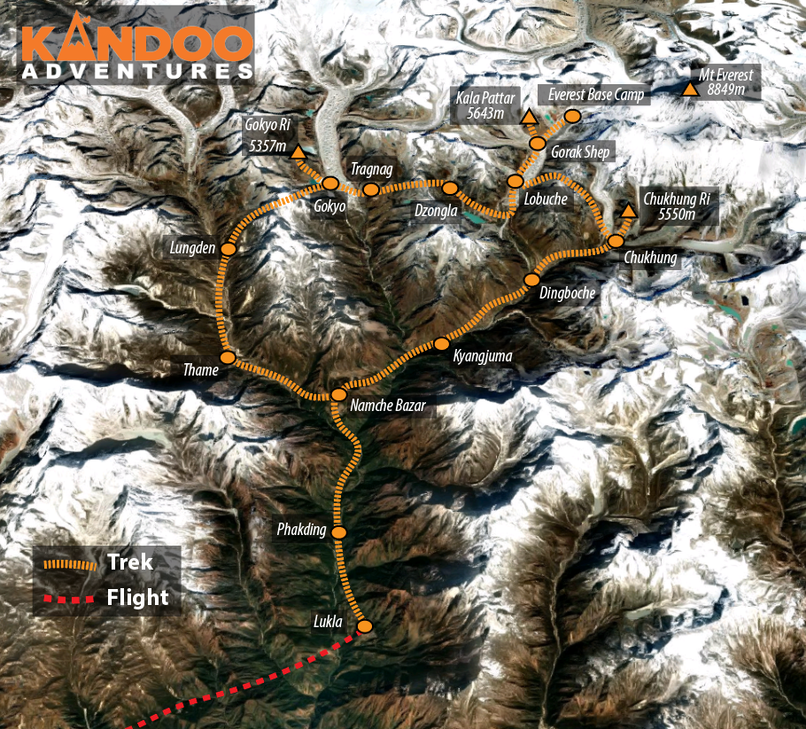 Three Passes Route Map