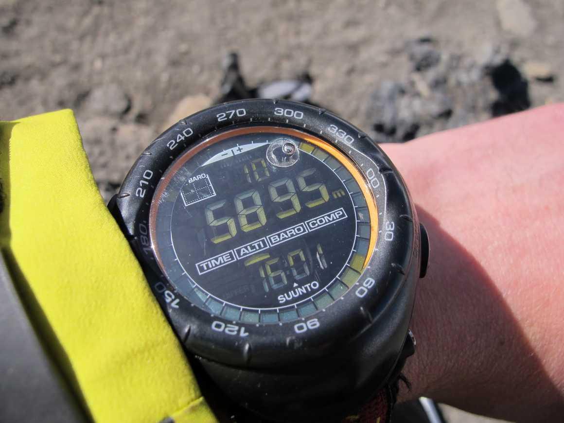 Altitude on the summit of Kilimanjaro