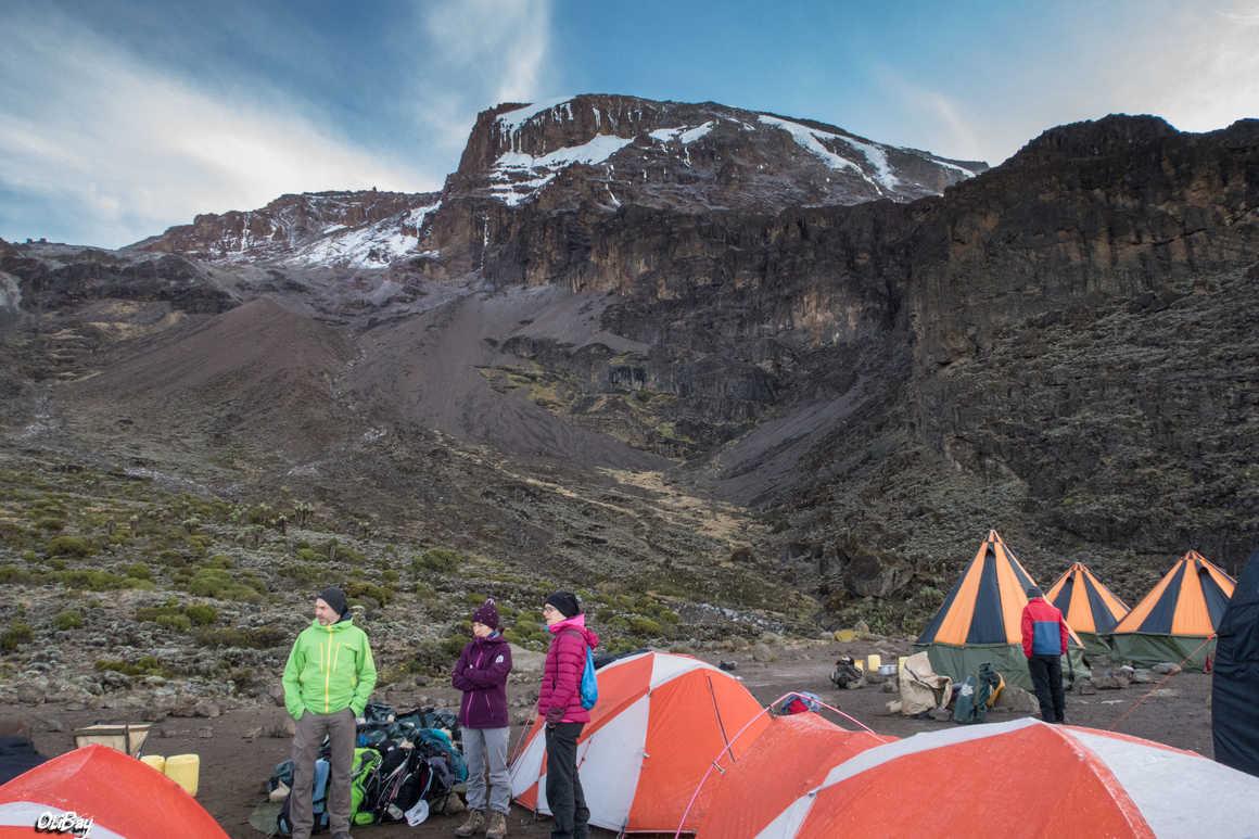 Barranco Camp during the Kilimanjaro ascent