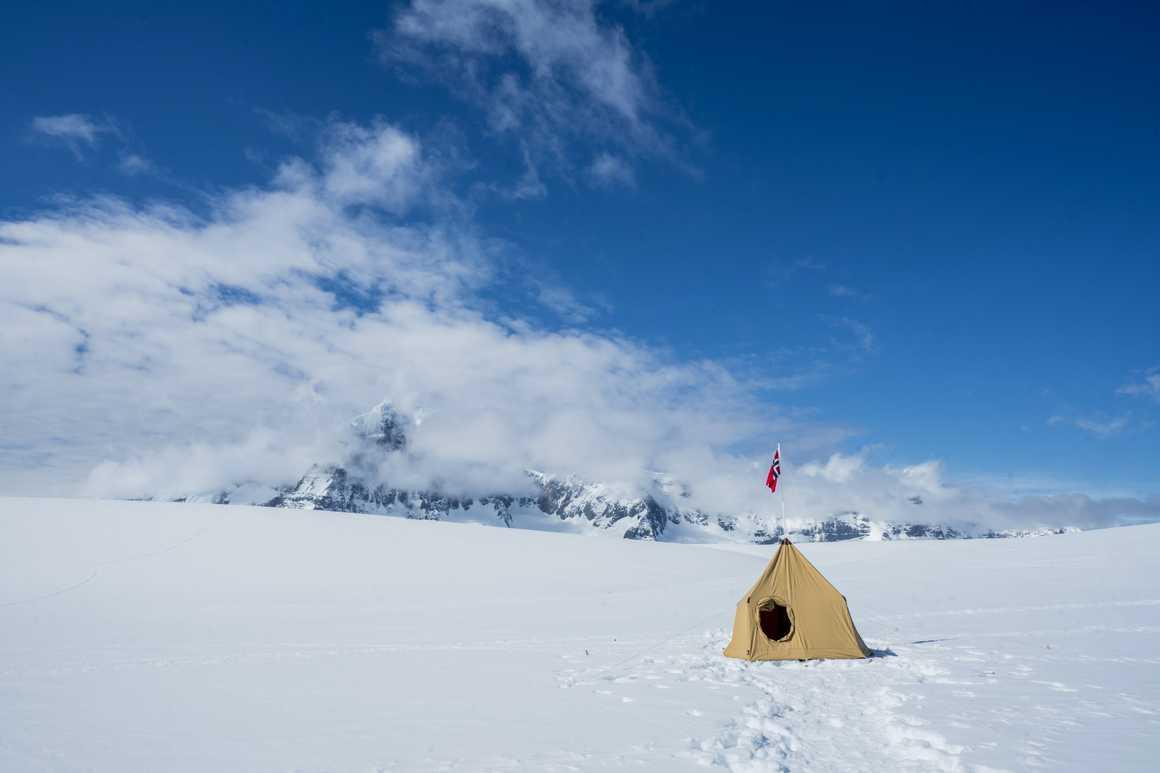 Base camp in Spitsbergen