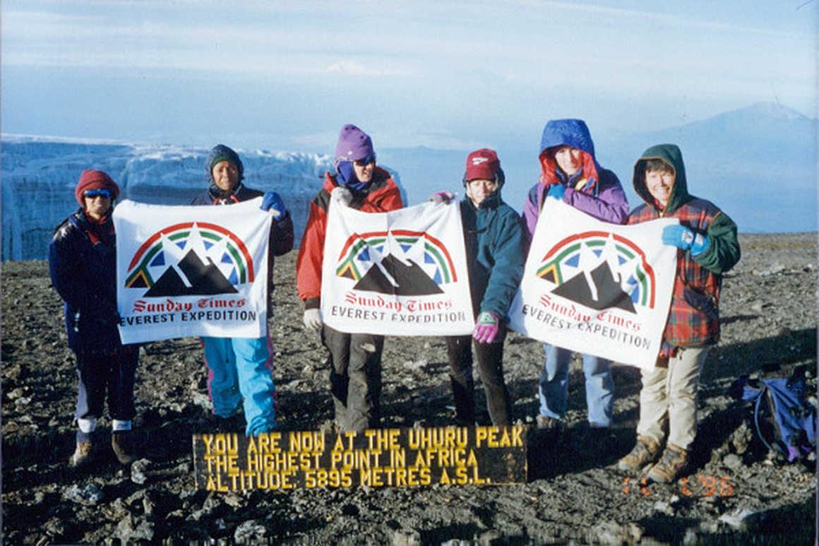 Cathy O Dowd climbs Kilimanjaro
