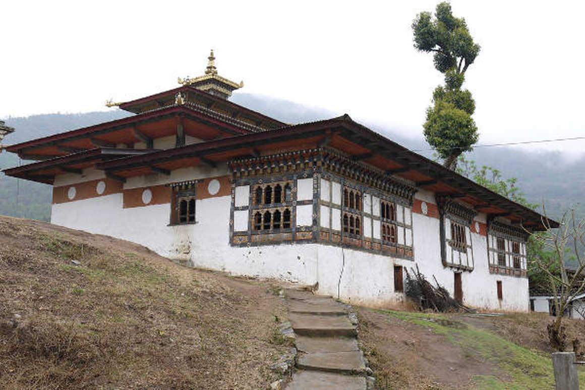 Chimi Lakhang Monastery in Punakha