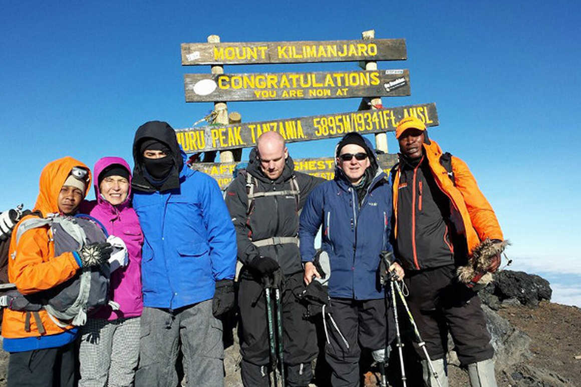 Chris Arthey in Kilimanjaro