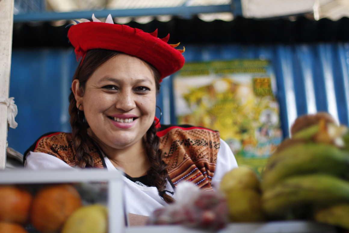 Colourful San Pedro market in Cuzco