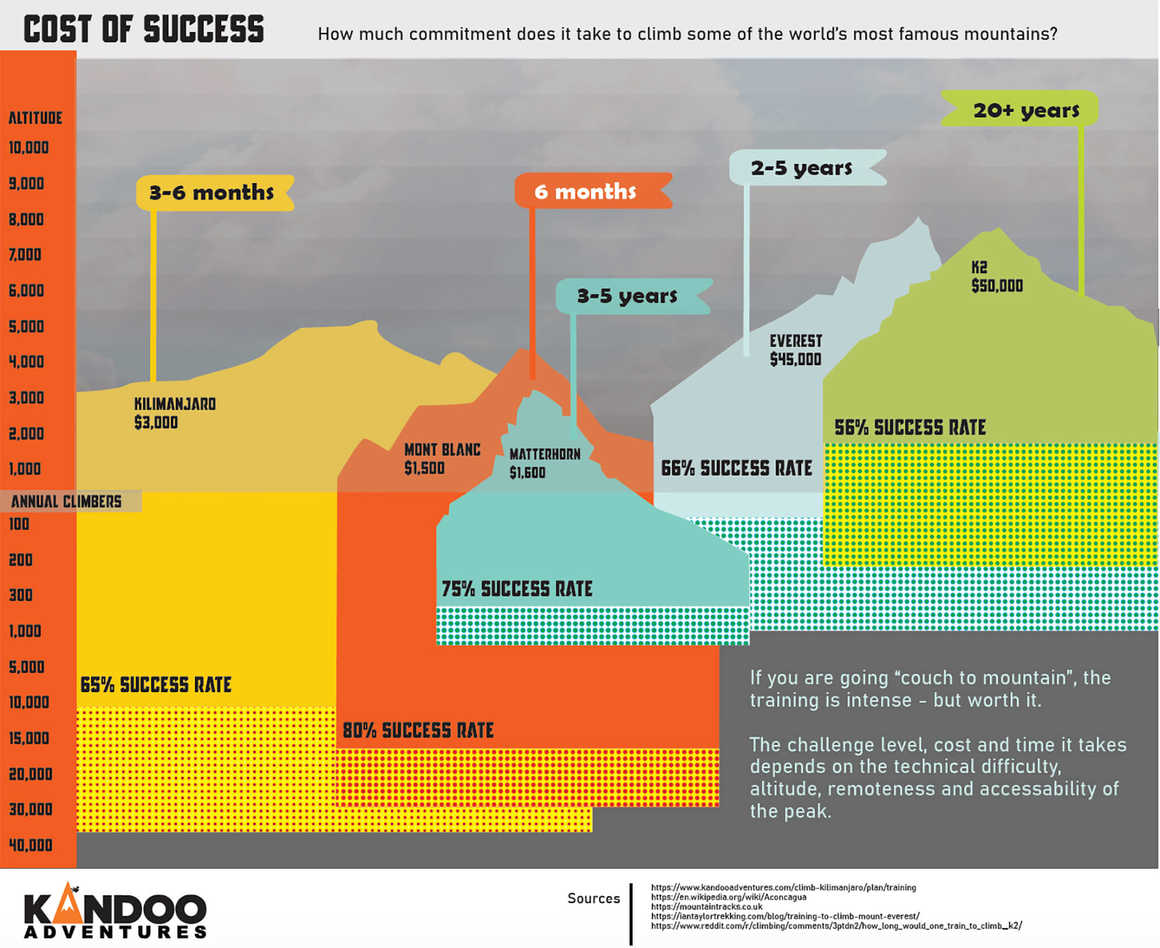 Cost of success infographic