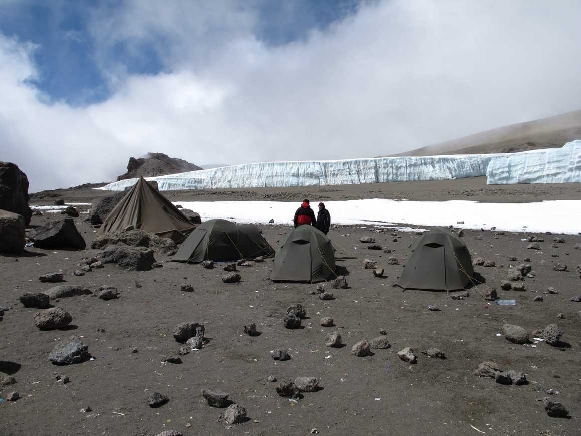 Crater camp on the Lemosho route