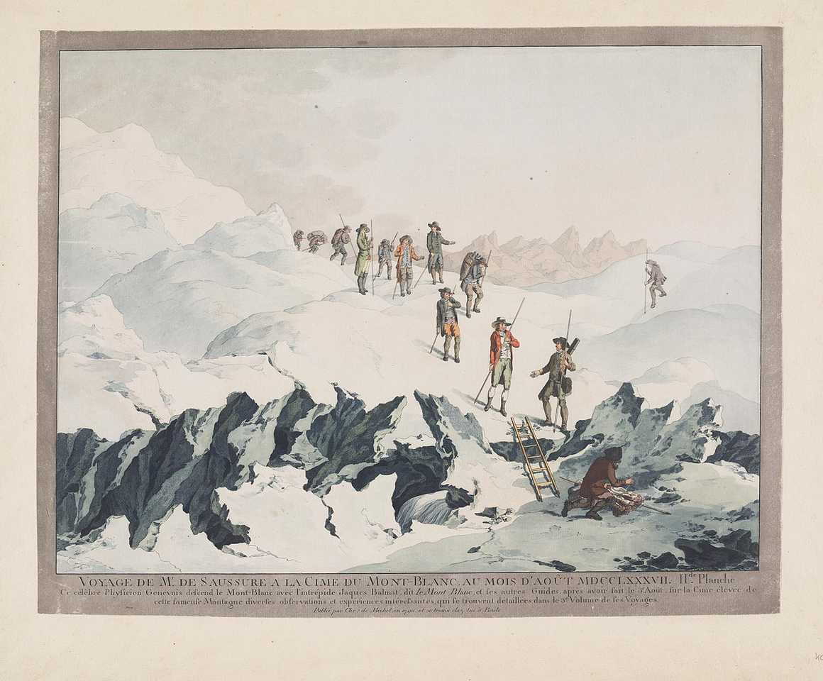 Descent from Mont Blanc in 1787