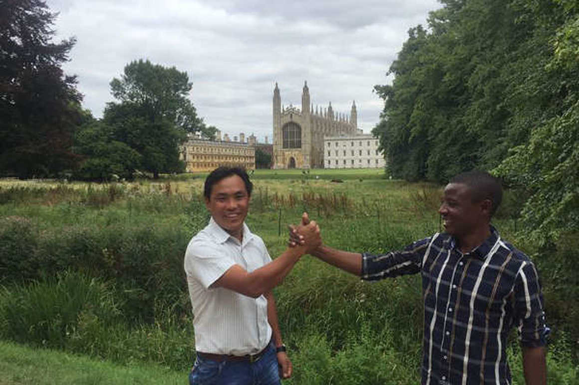 Emanuel and Pimba in London, Kandoo's country managers