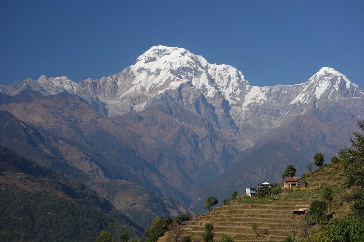 Impressive Dhaulagiri view during the Pool hill trek