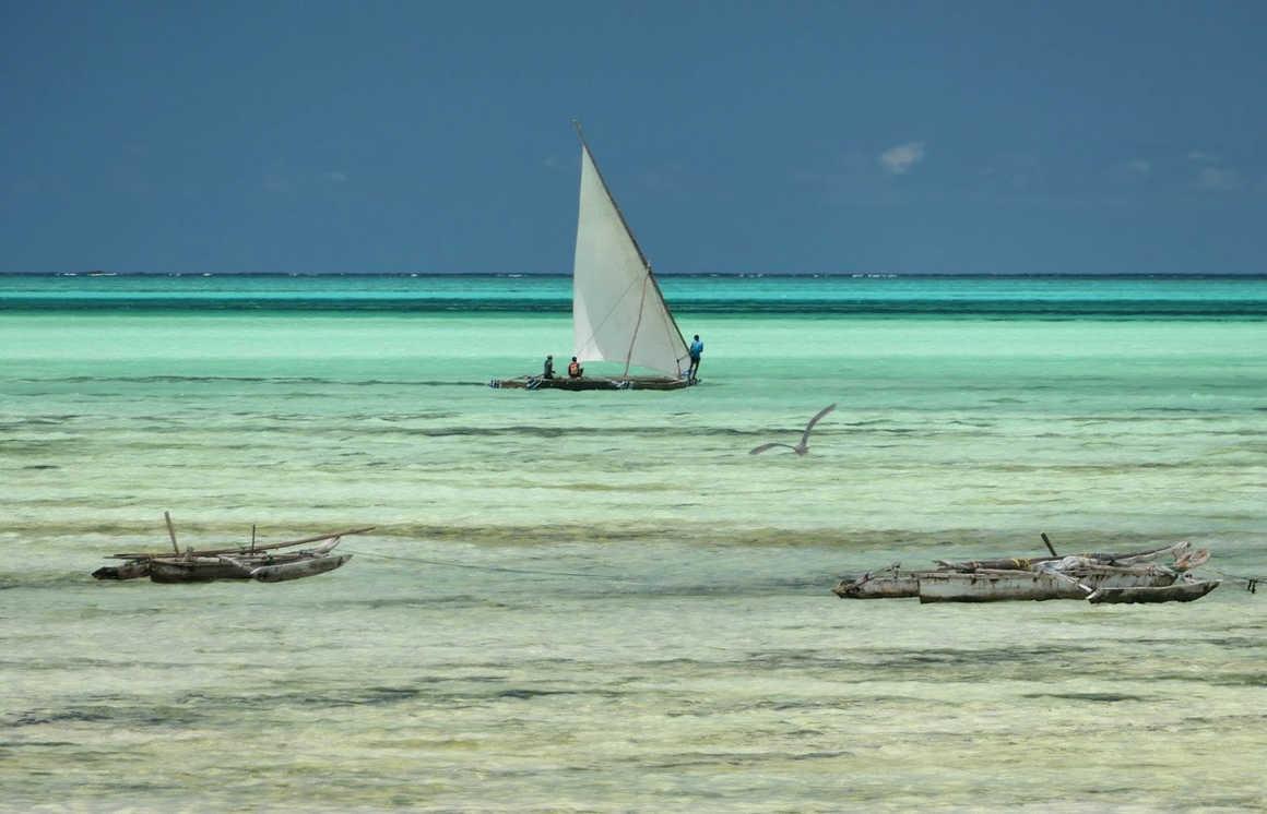 Jambiani beach in Zanzibar