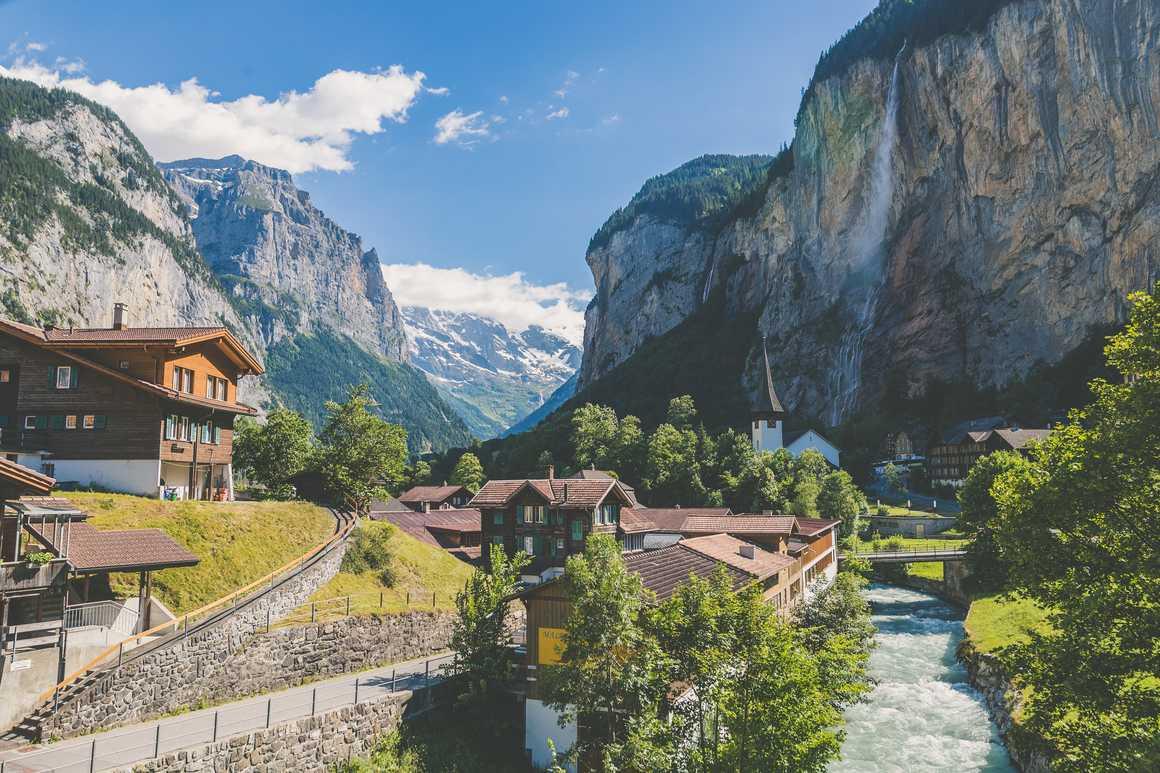 Lauterbrunnen village in Switzerland