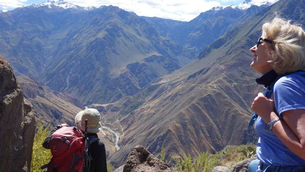 Looking down into Colca canyon