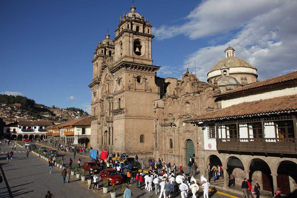 Plaza de las armas in Cuzco