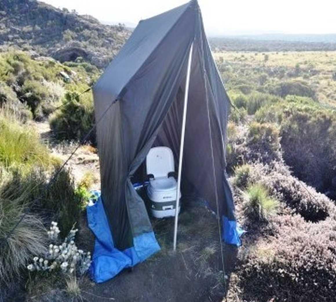 Private toilet in Kilimanjaro