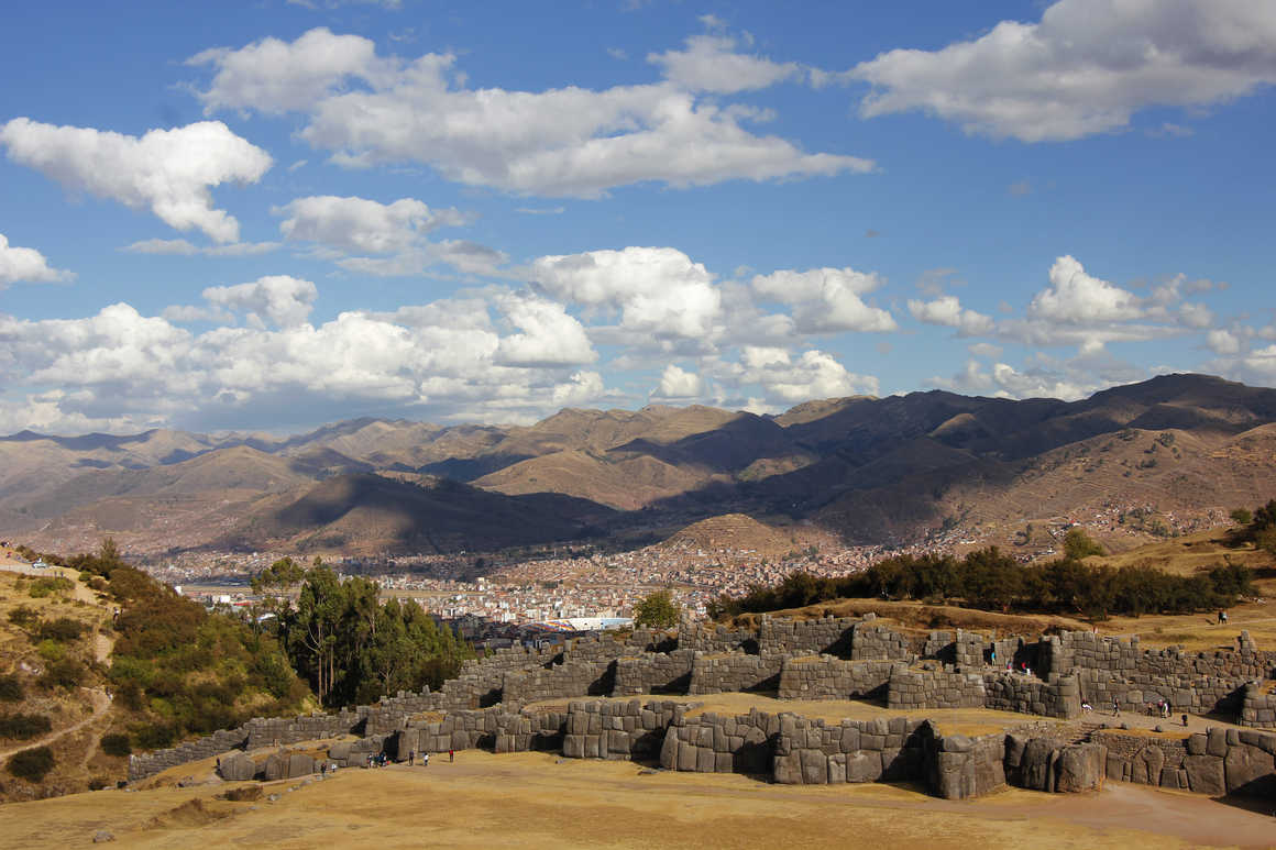 Sacsayhuaman architectural site in Cuzco