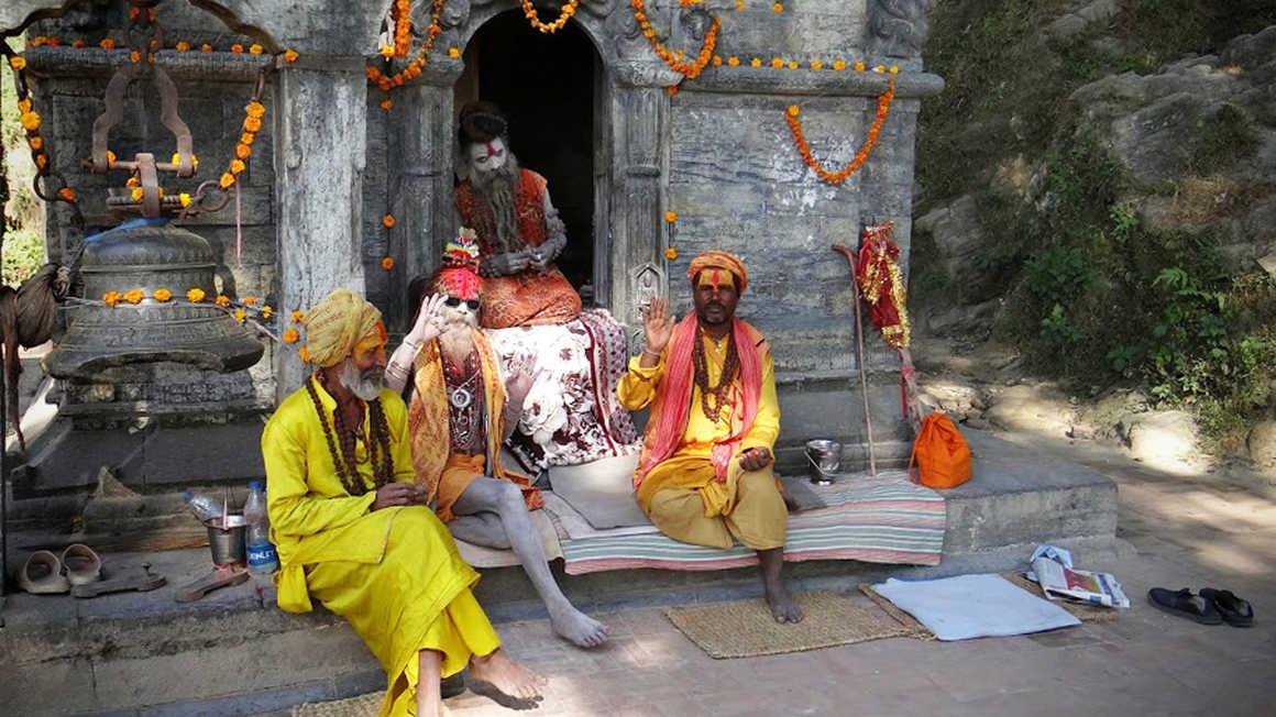 Sadhus in Katmandu