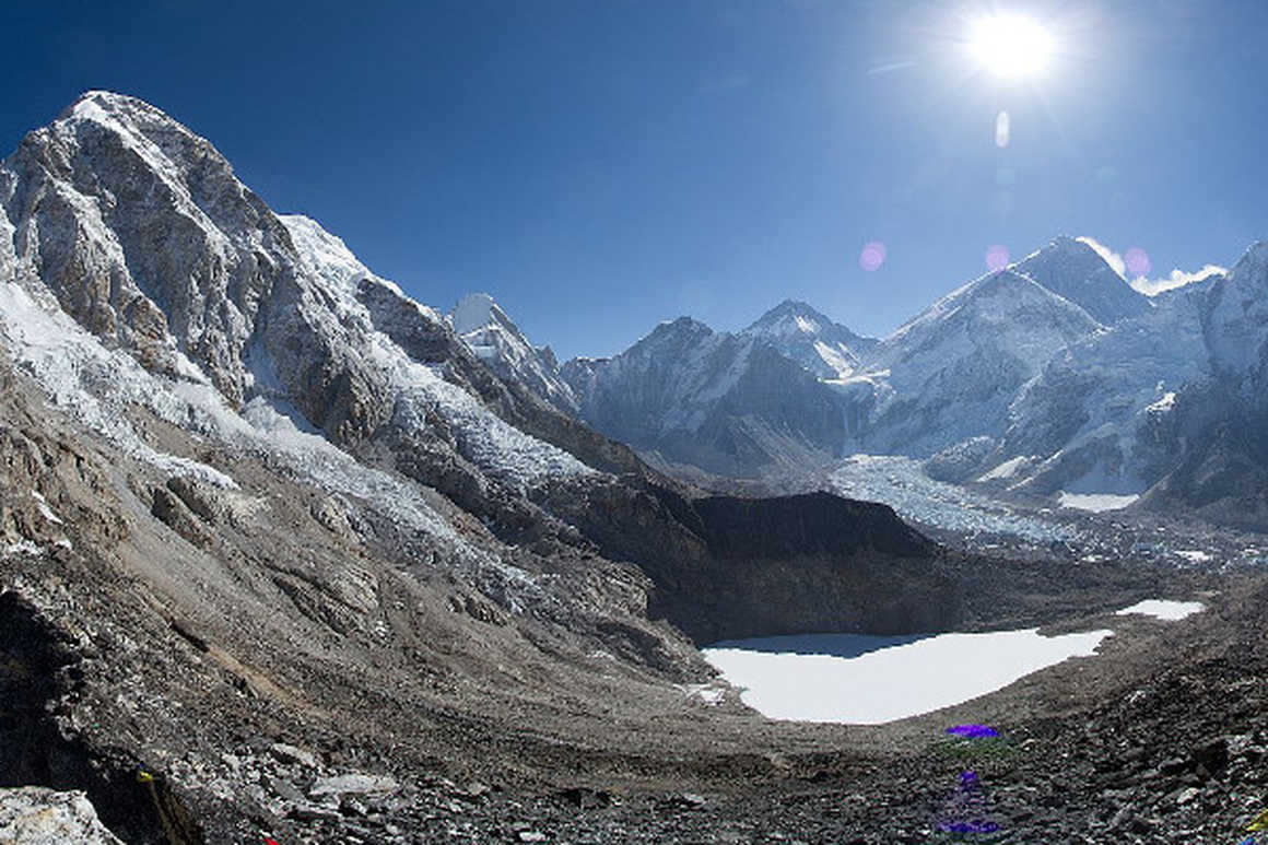 Sargamantha peak near Everest Base Camp