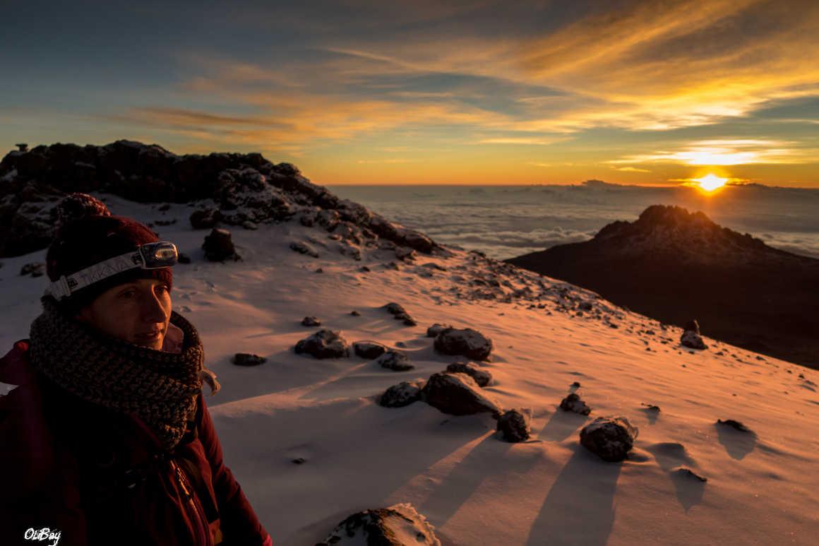 Sunrise on the summit of Kilimanjaro