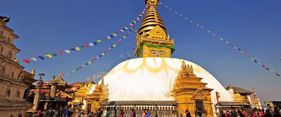 Swayambhunath temple in Katmandu