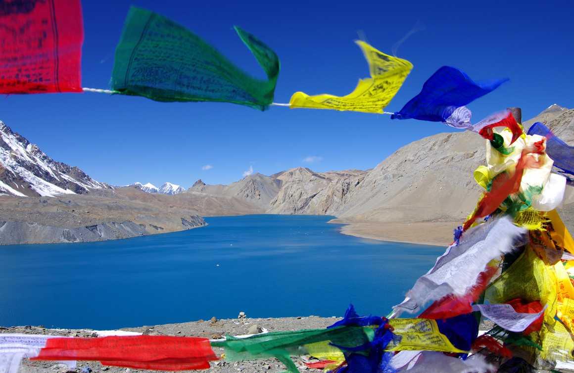 Tilicho lake in the Annapurna region