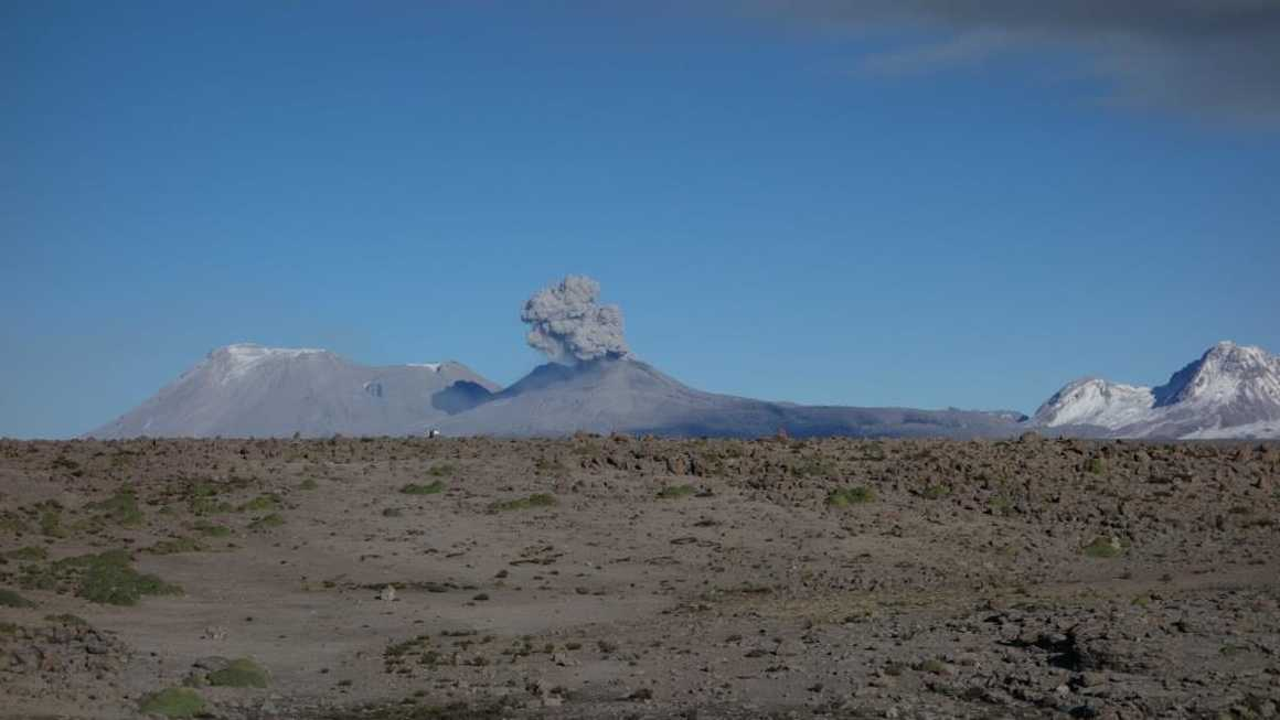 Volcan erupting in the Colca Canyon area