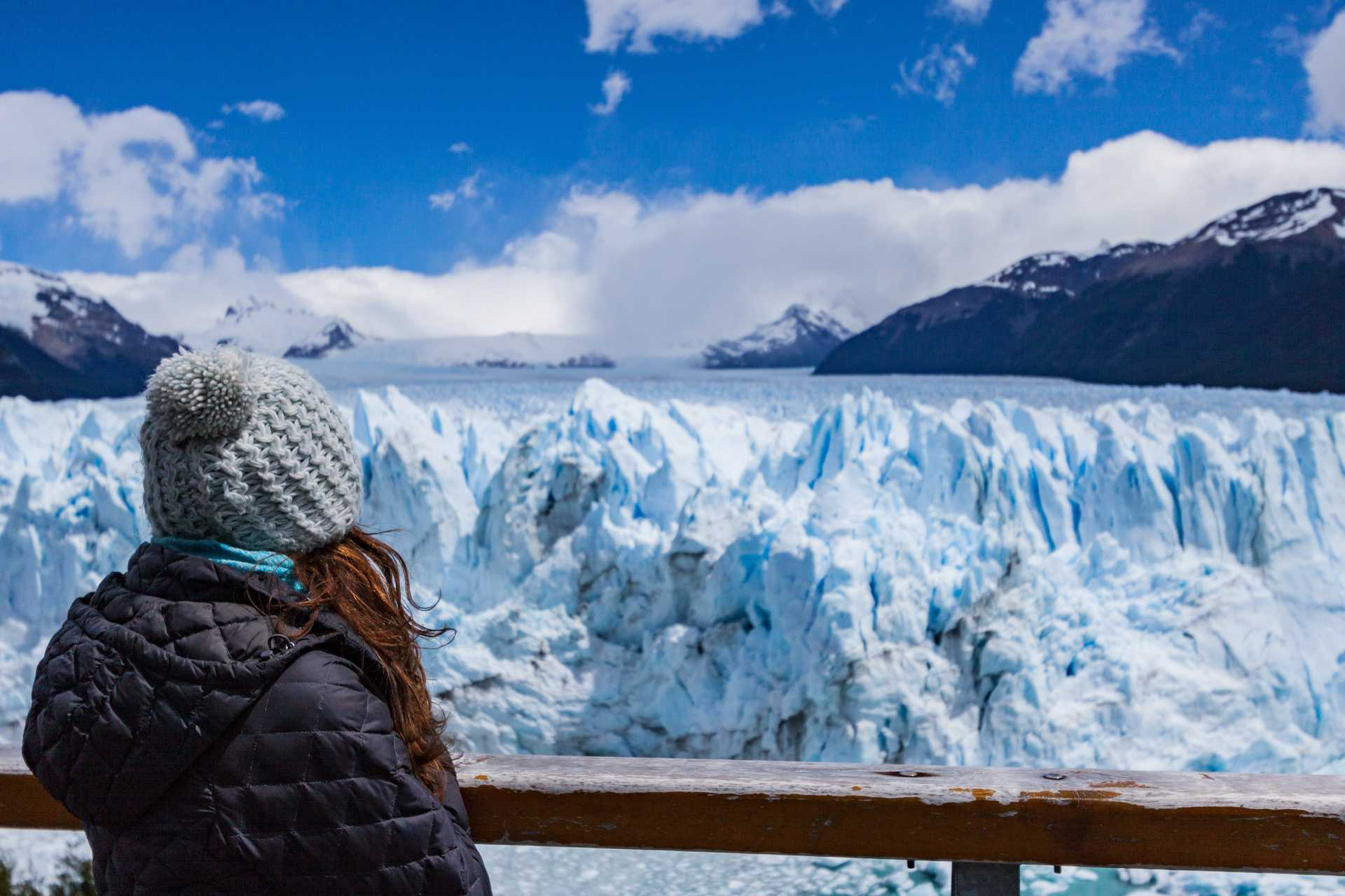 Contemplation in front of the Perito Moreno glacier