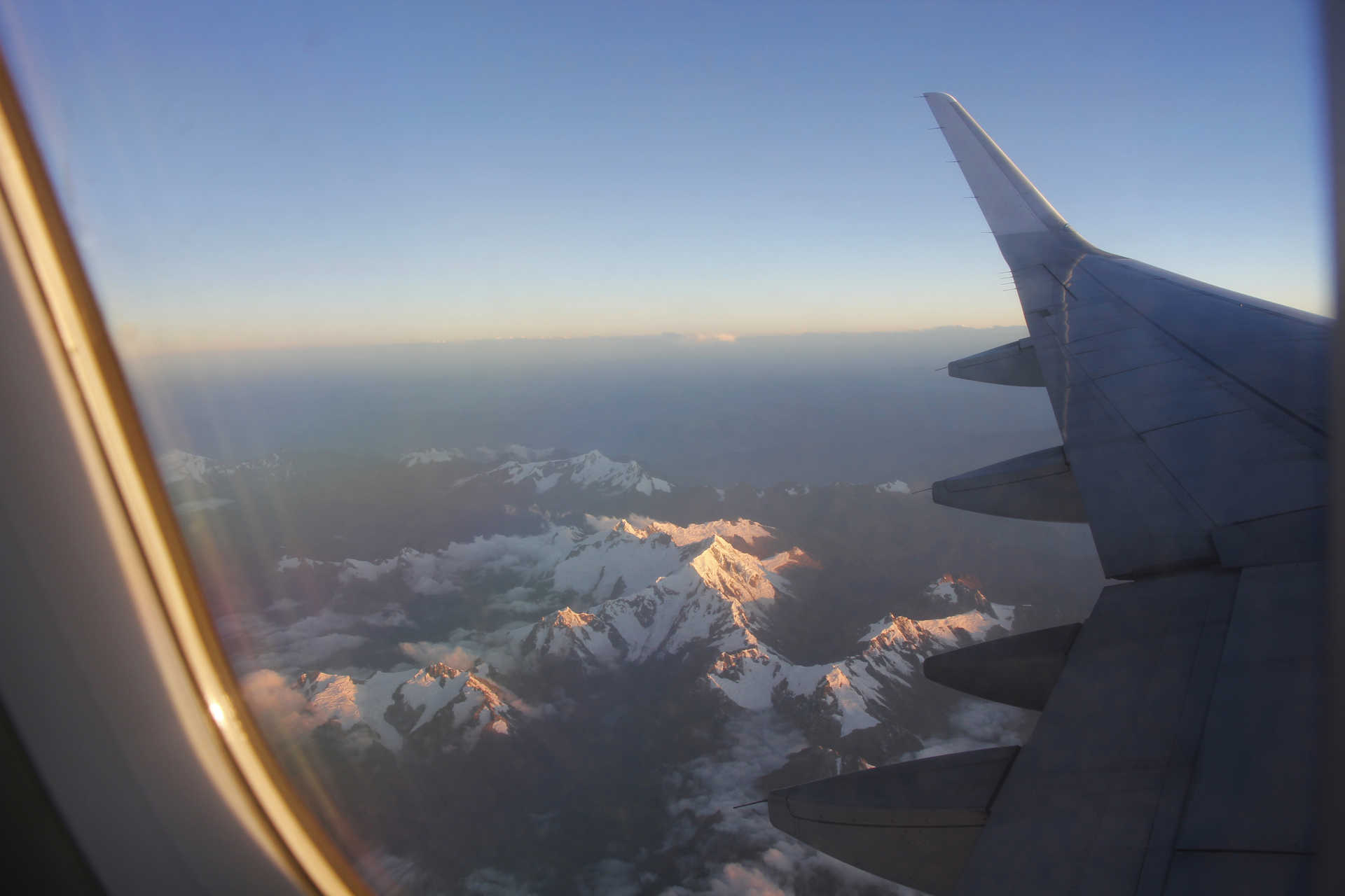 Flying over the Peruvian Andes